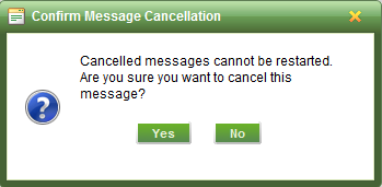 How do I cancel or pause a scheduled message?